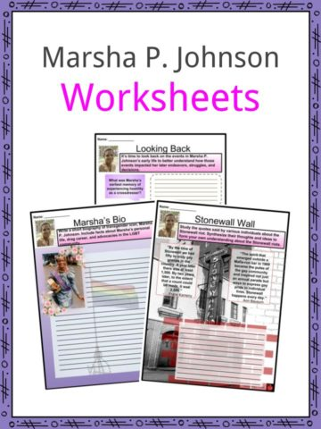 Marsha P. Johnson Worksheets