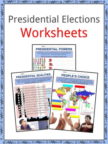 Presidential Elections Worksheets