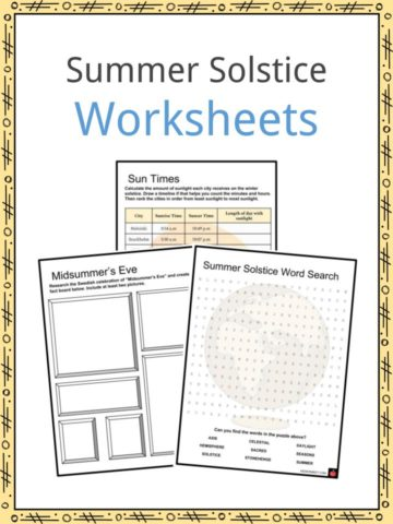 Summer Solstice Worksheets