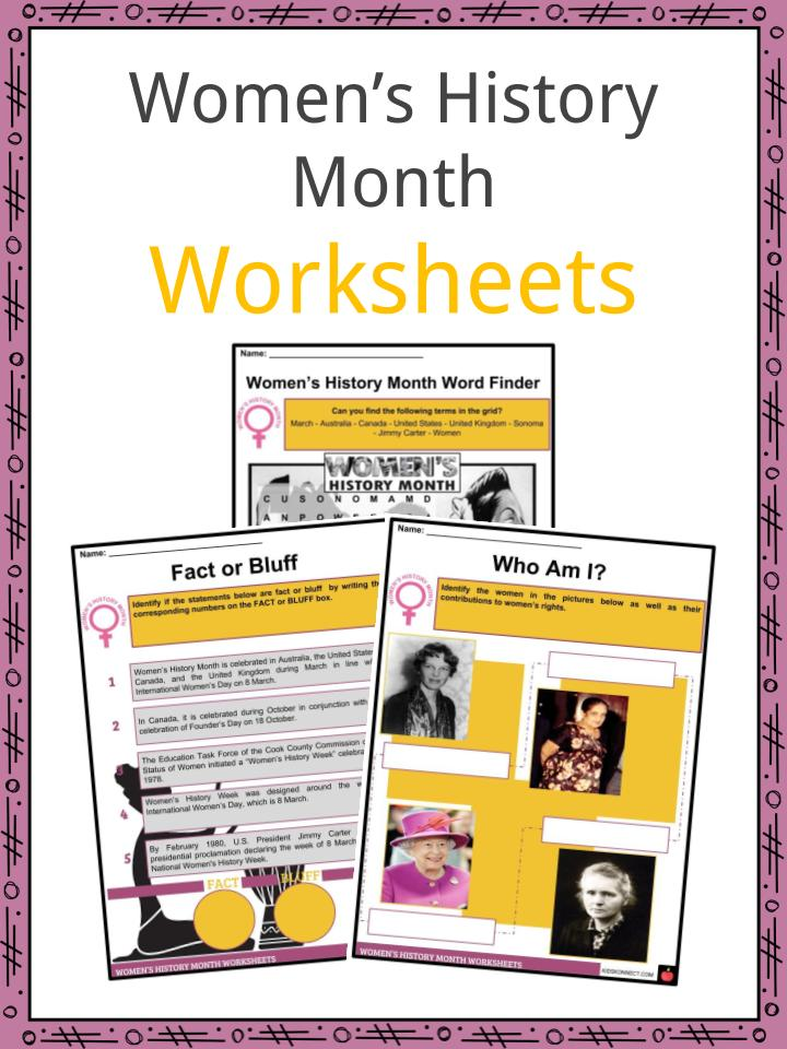 Women's History Month Worksheets