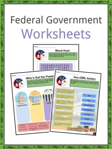 Federal Government Worksheets