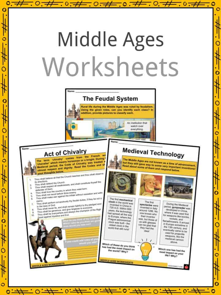 Middles Ages Worksheets