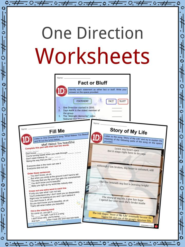 One Direction Worksheets