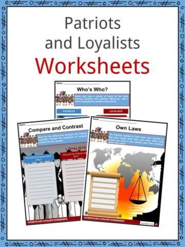 Patriots and Loyalists Worksheets