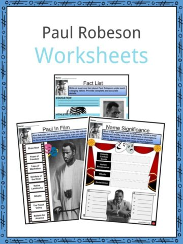 Paul Robeson Worksheets