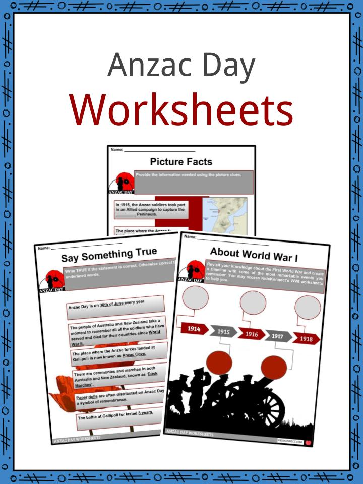 Anzac Day Worksheets
