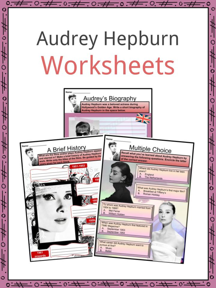Audrey Hepburn Worksheets