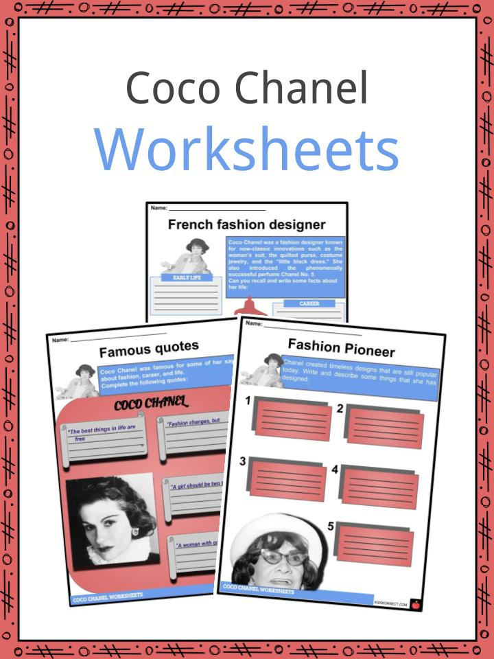 Coco Chanel Facts Worksheets Early Life Steps To Success For Kids
