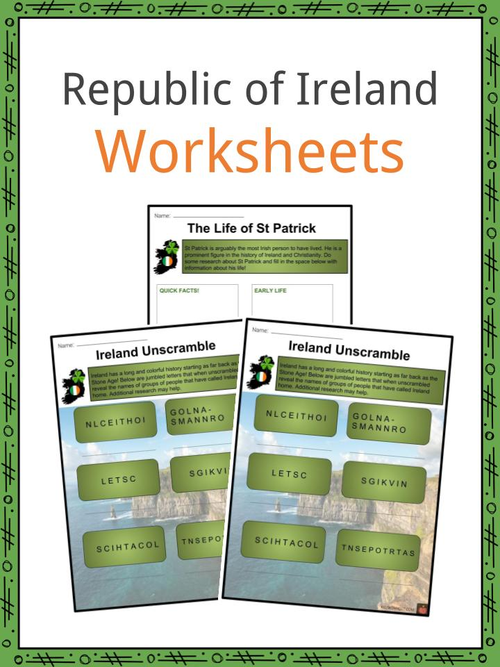 Ireland Worksheets