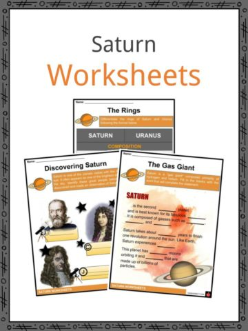 Saturn Worksheets