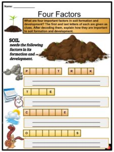 Soil Facts, Worksheets and Formation Processes For Kids
