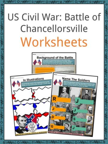 US Civil War_ Battle of Chancellorsville Worksheets