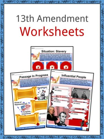 13th Amendment Worksheets