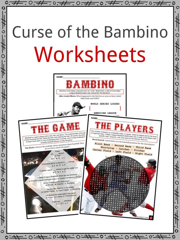 Curse of the Bambino Worksheets