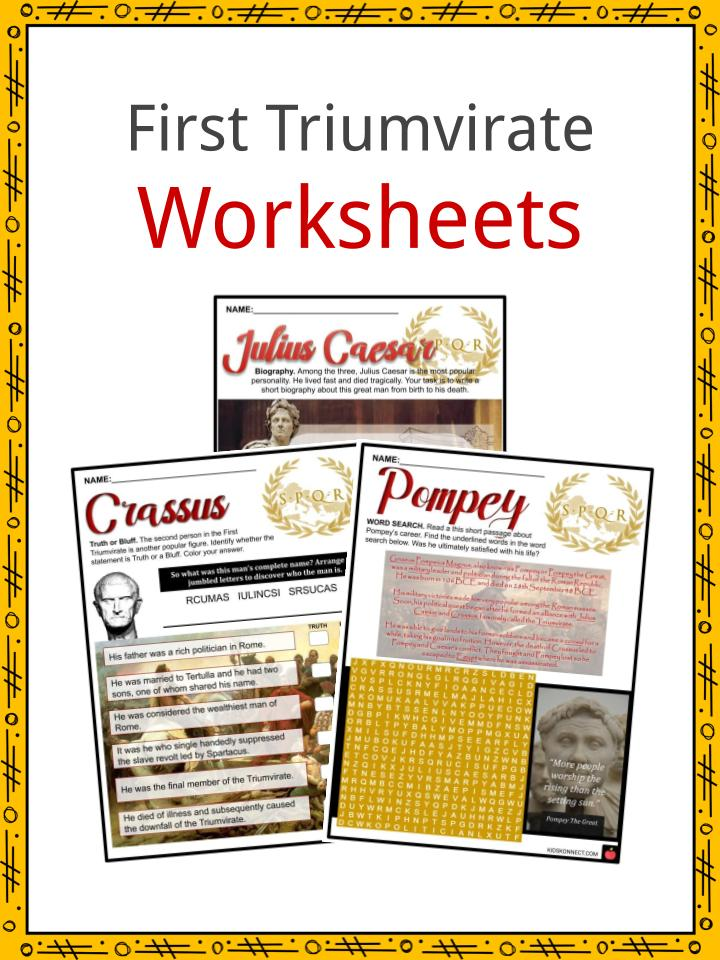 First Triumvirate Worksheets