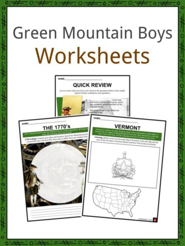 Green Mountain Boys Worksheets