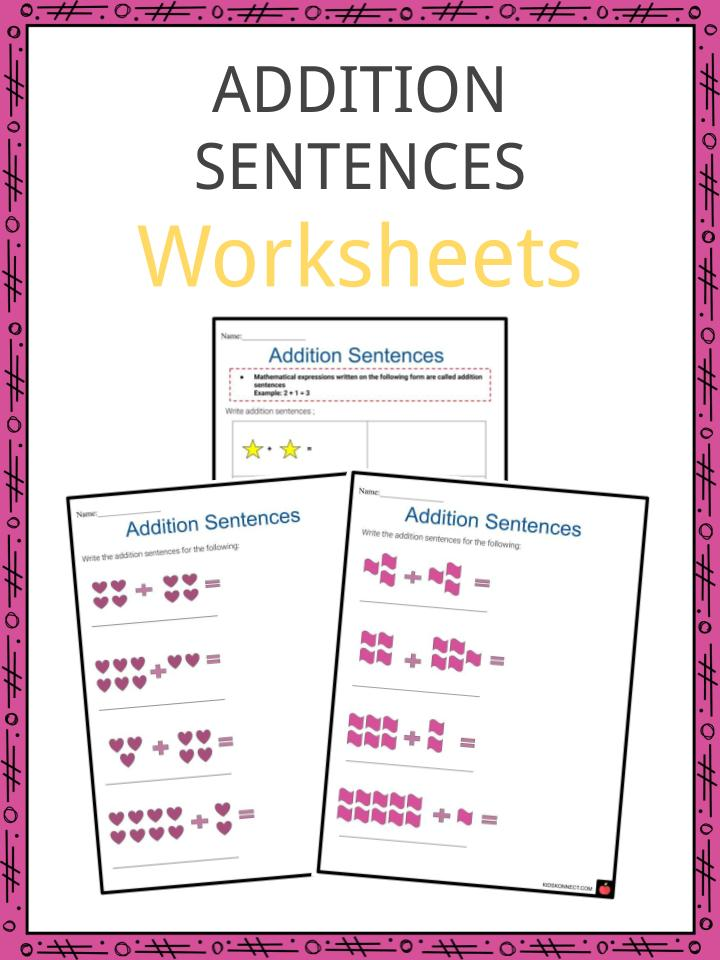 Addition Sentences Worksheets