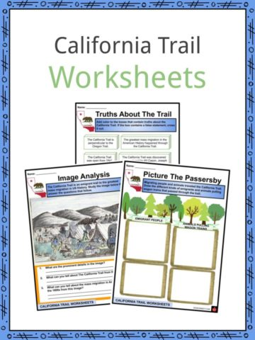 California Trail Worksheets
