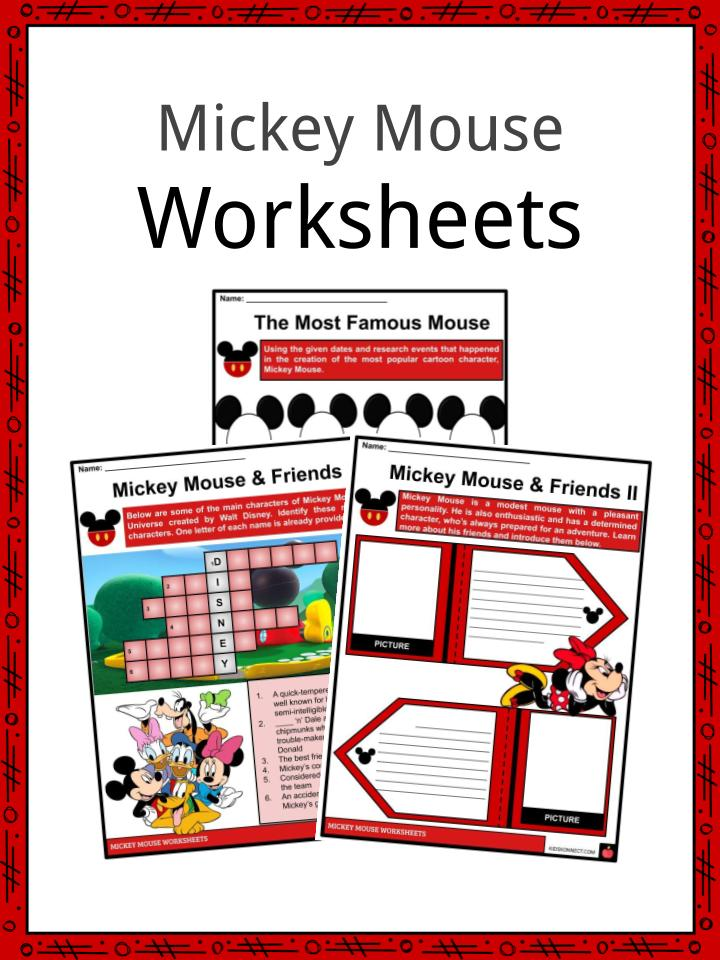Mickey Mouse Facts, Worksheets & Historical Background For Kids