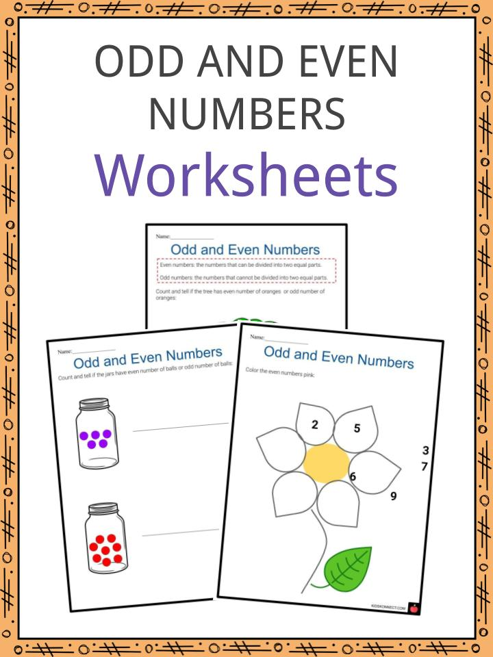 Odd and even number Worksheets