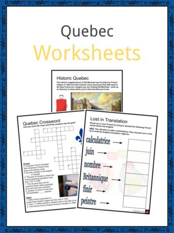 Quebec Worksheets