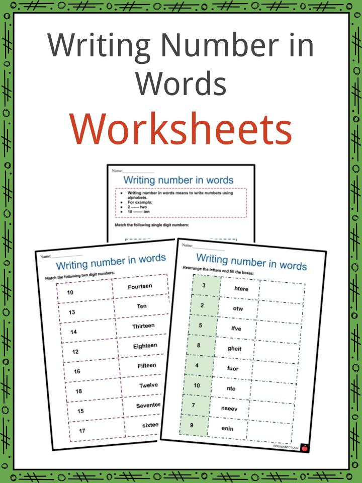 Writing Number in Words Worksheets