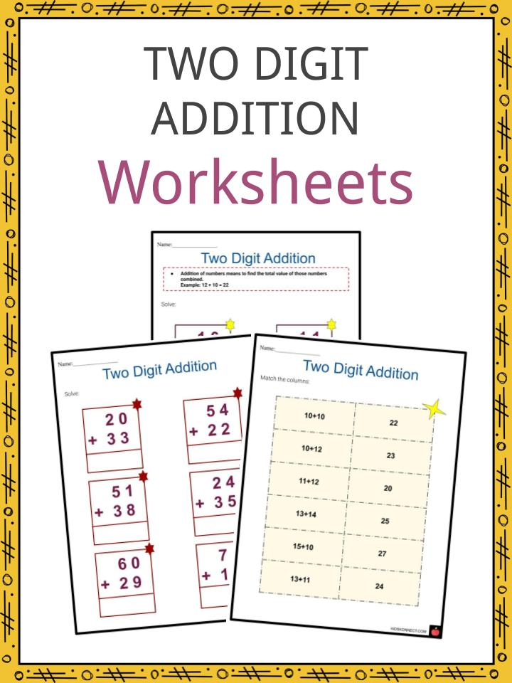 Two Digit Addition Worksheets