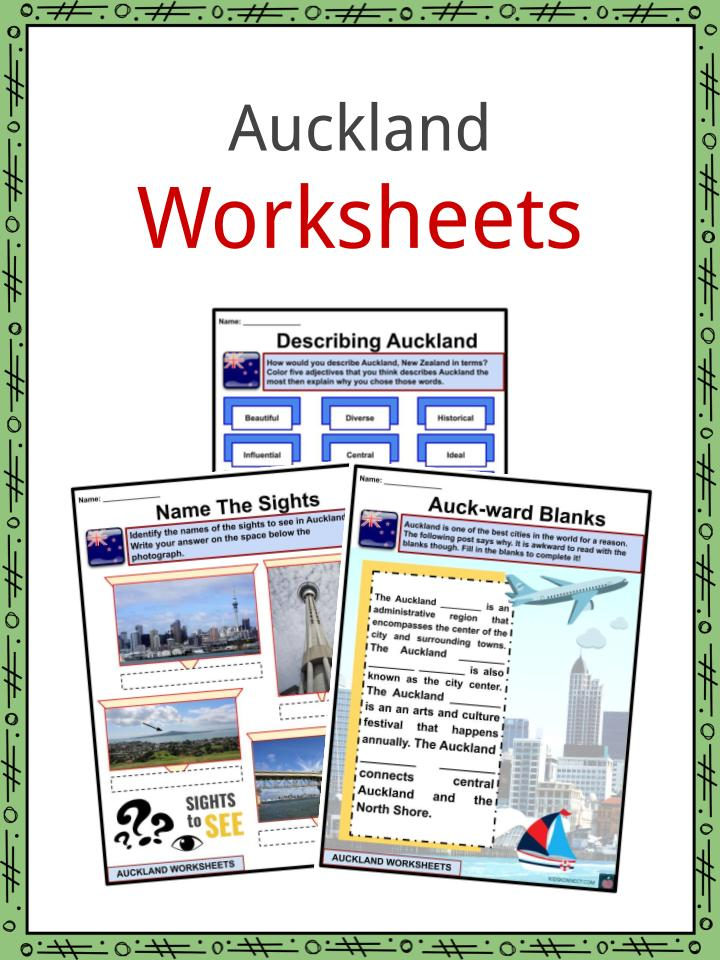Auckland Worksheets