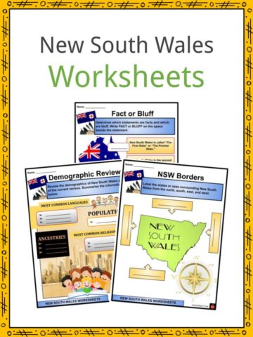 New South Wales Worksheets