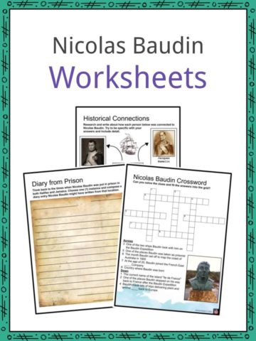 Nicolas Baudin Worksheets
