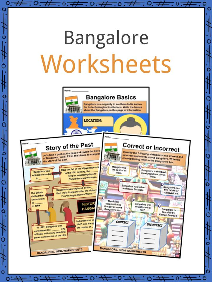Bangalore Facts Worksheets Geography History Culture For Kids