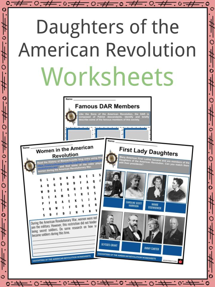 Daughters of the American Revolution Worksheets