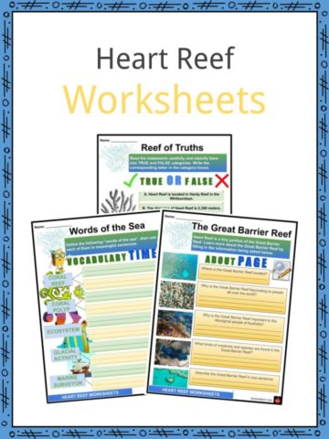Heart Reef Worksheets