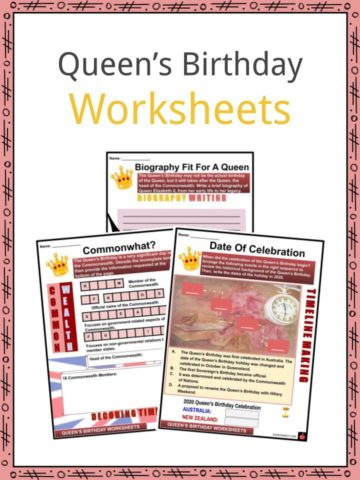 Queen's Birthday Worksheets