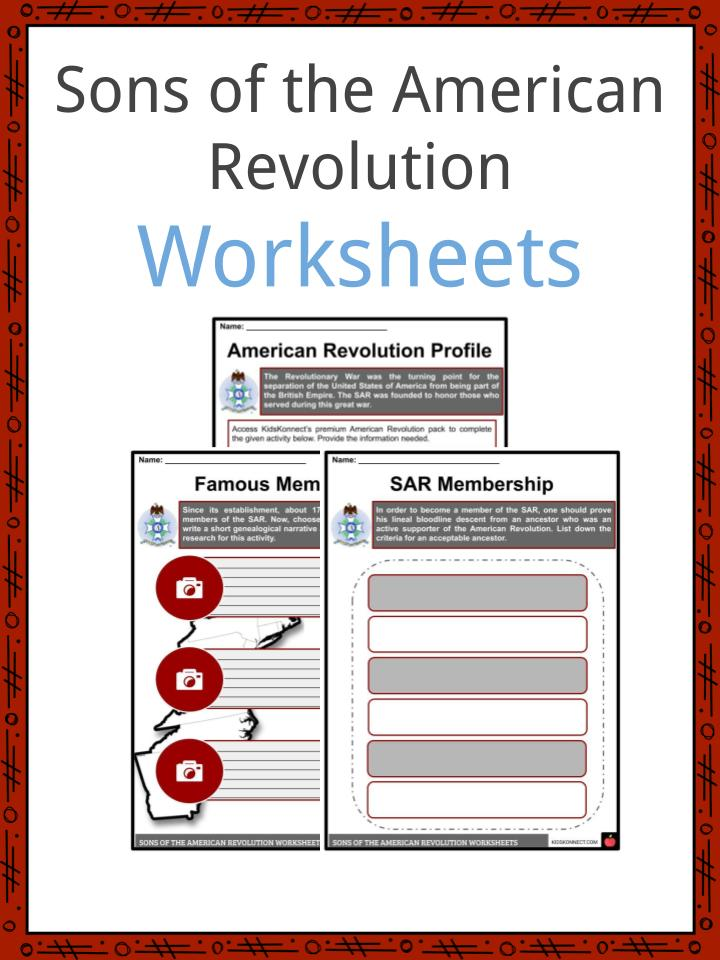 Sons of the American Revolution Worksheets