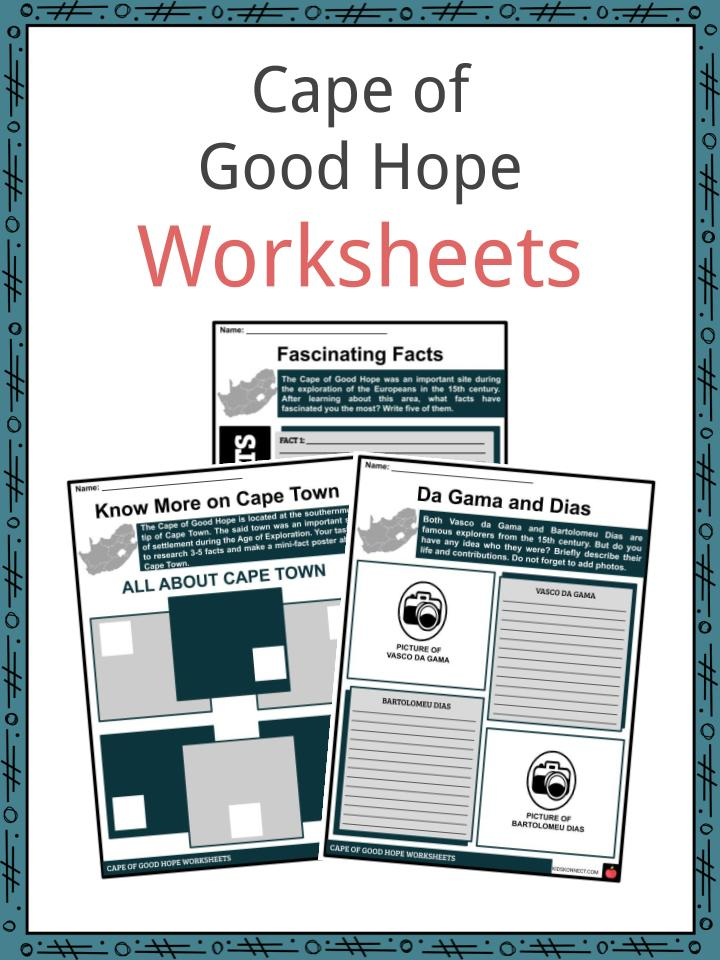 Cape of Good Hope Worksheets