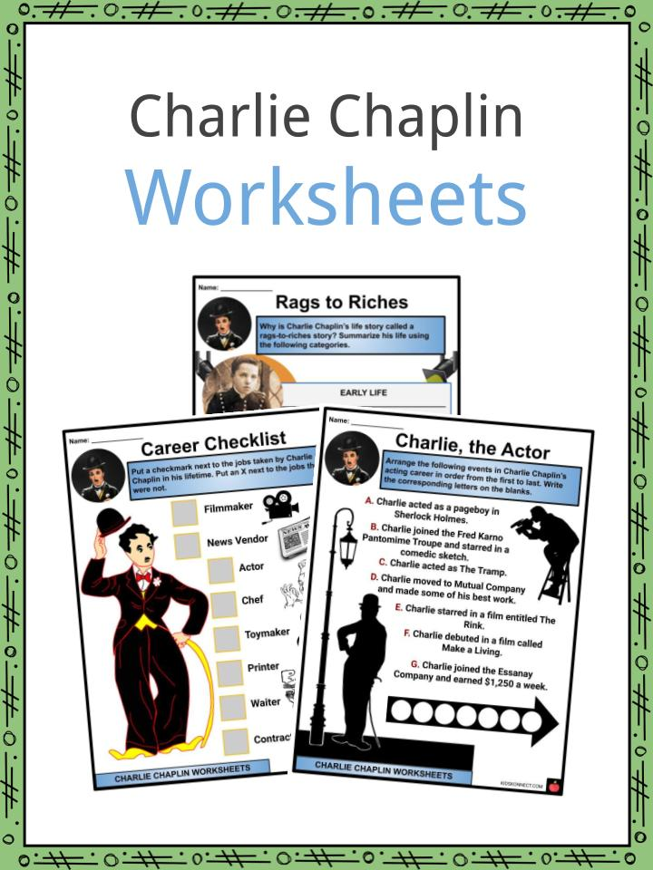 Charlie Chaplin Worksheets