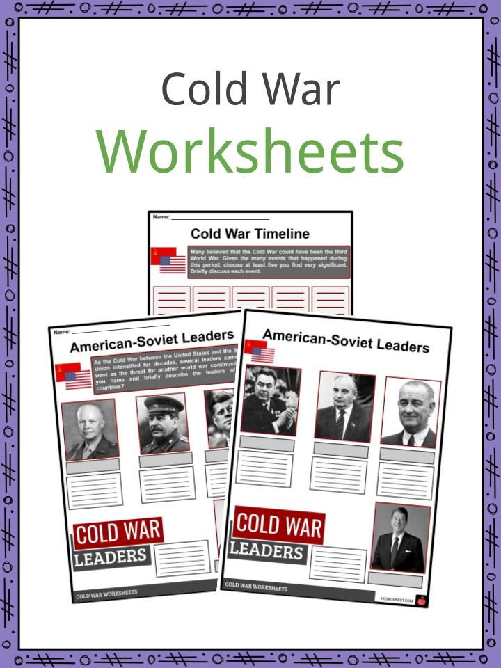 Cold War Facts Worksheets Historical Background Atomic Age For Kids