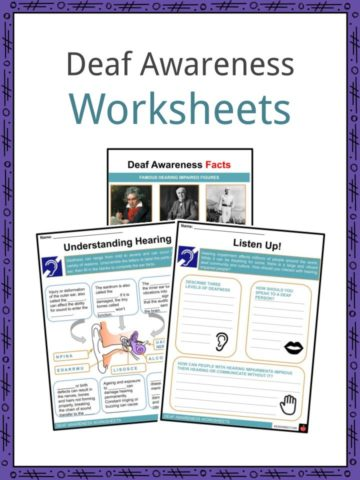 Deaf Awareness Worksheets