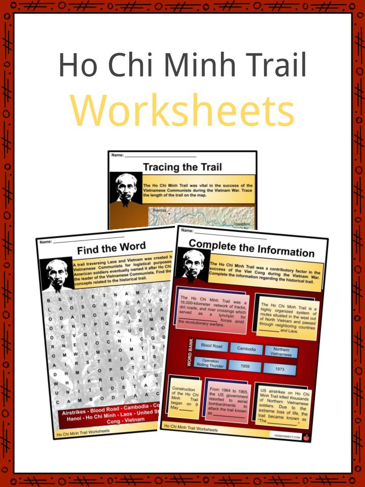 Ho Chi Minh Trail Worksheets