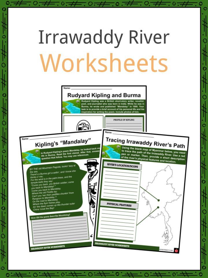 Irrawaddy River Worksheets