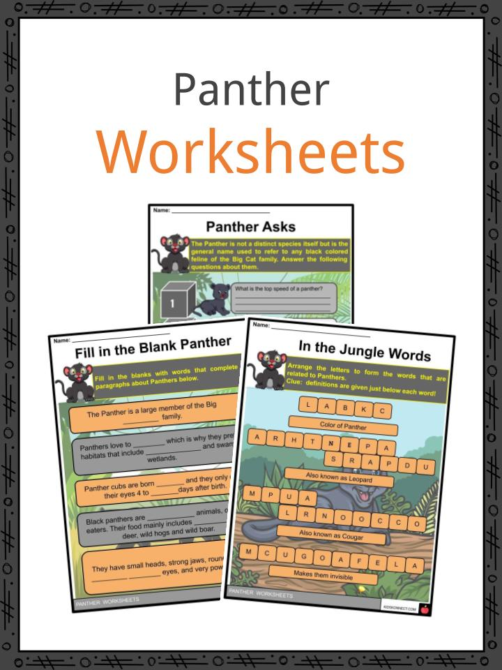 Panther Worksheets