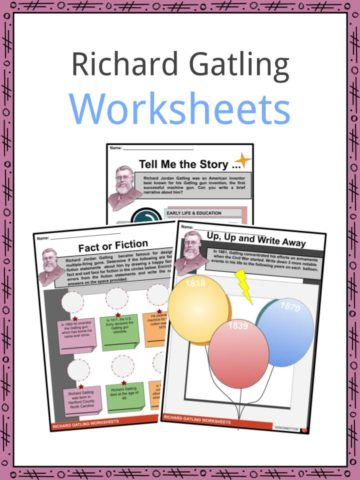 Richard Gatling Worksheets