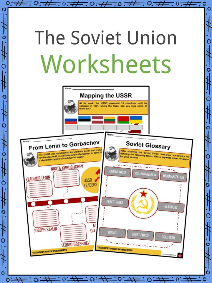 The Soviet Union Worksheets