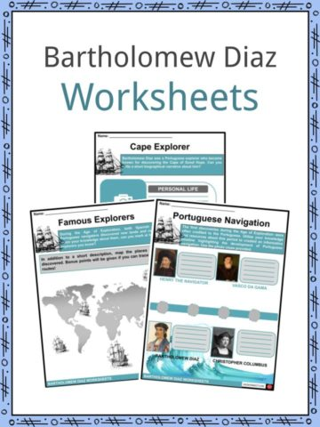 Bartholomew Diaz Worksheets
