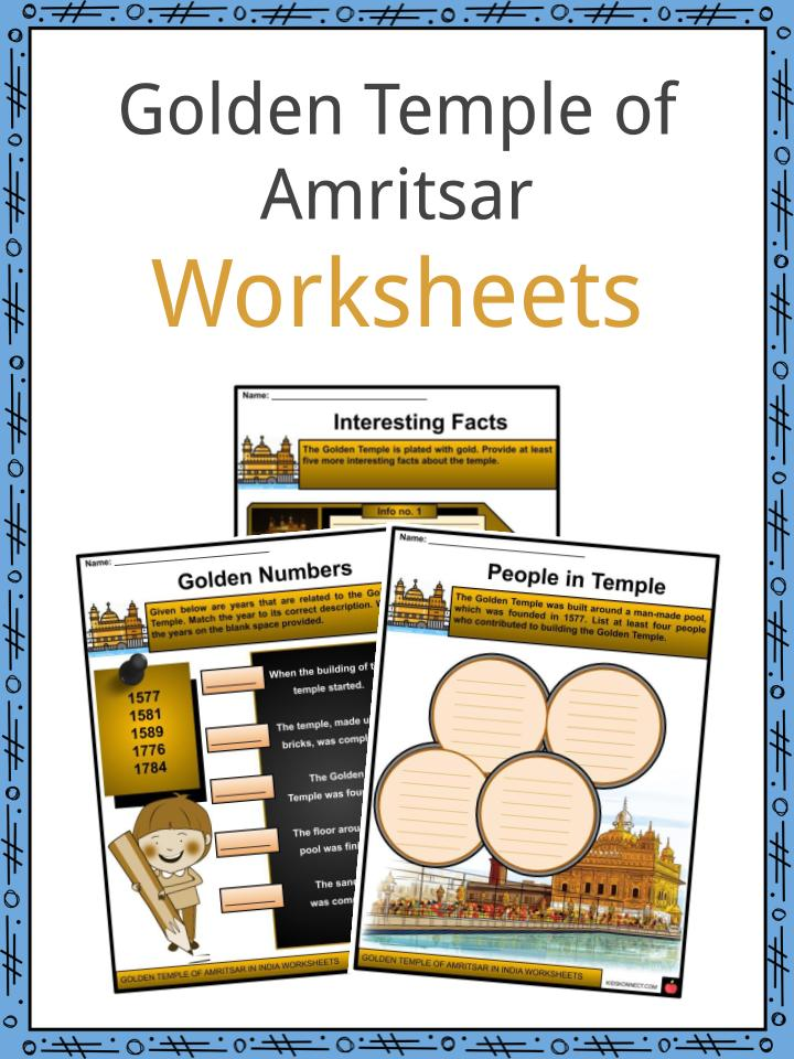 Golden Temple of Amritsar Worksheets