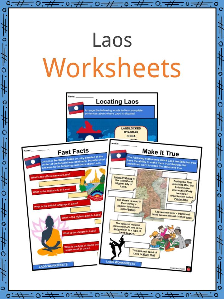 Laos Worksheets