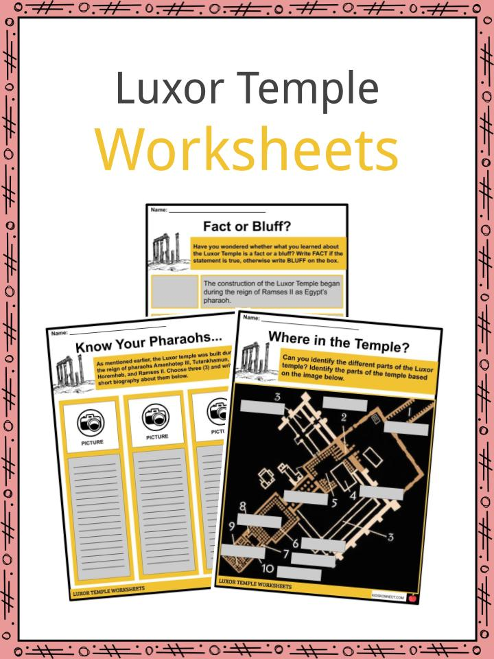 Luxor Temple Worksheets