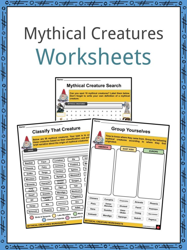 Mythical Creatures Worksheets