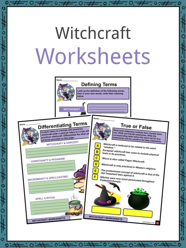 Witchcraft Worksheets
